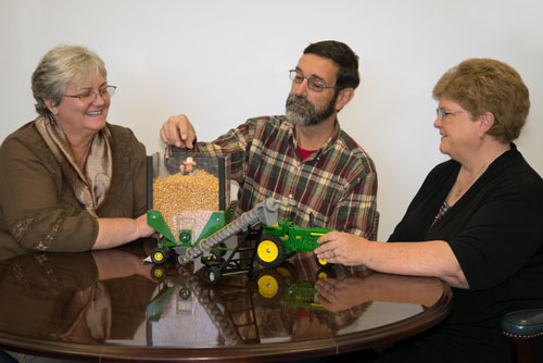 left to right, Annette Greer, Research Associate Professor, Dept. of Ethics and Interdisciplinary Studies, Lamar Graft, Associate Director, and Robin Tutor-Marcom, Director, NC Agromedicine Institute.